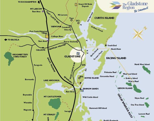 Curtis Island Gladstone Map